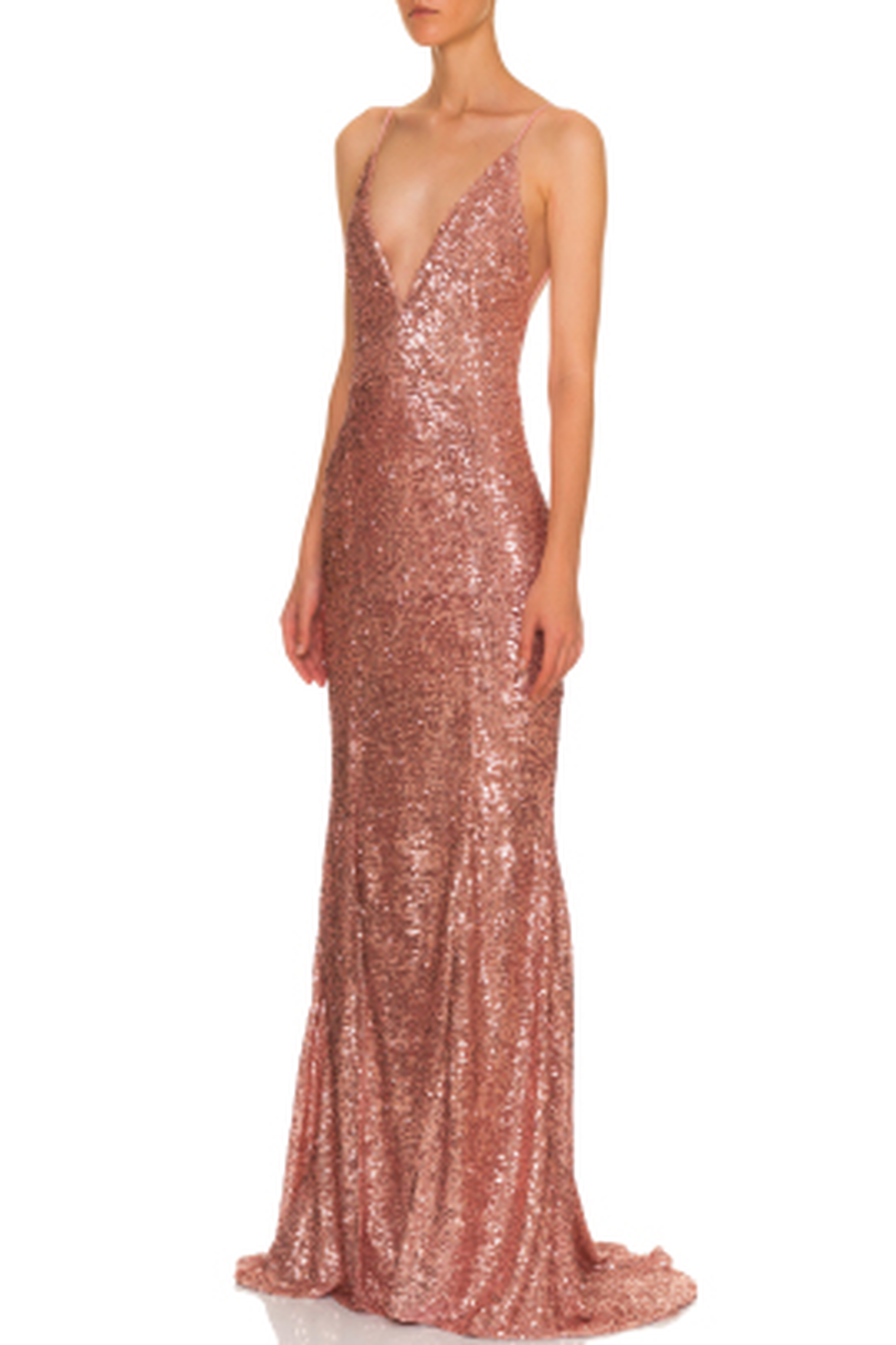 Eveline Pudra Pullu Gece Elbisesi