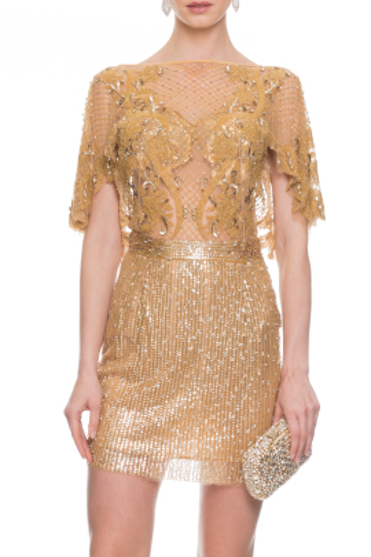 Paradise Gold Kokteyl Elbise