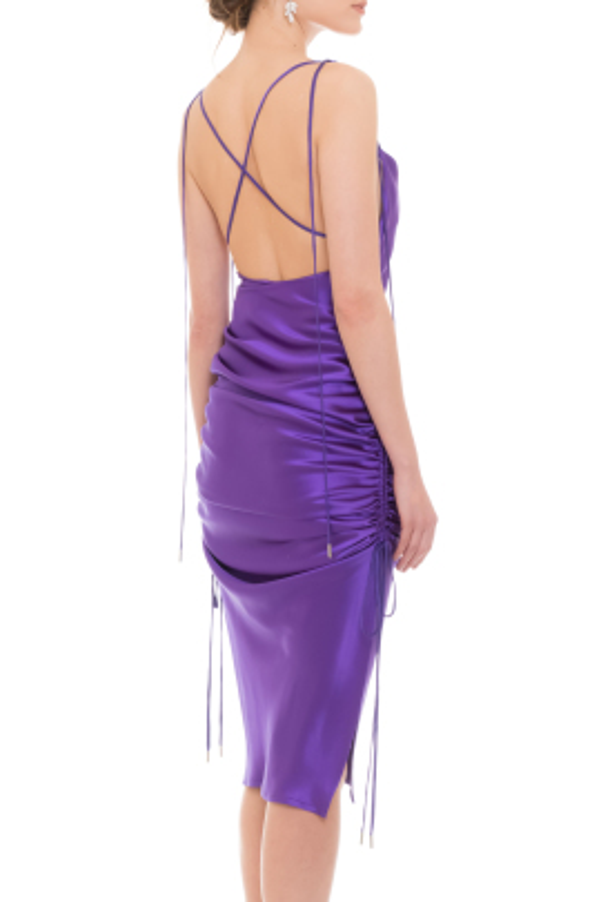 Yasmine Purple Satin Dress