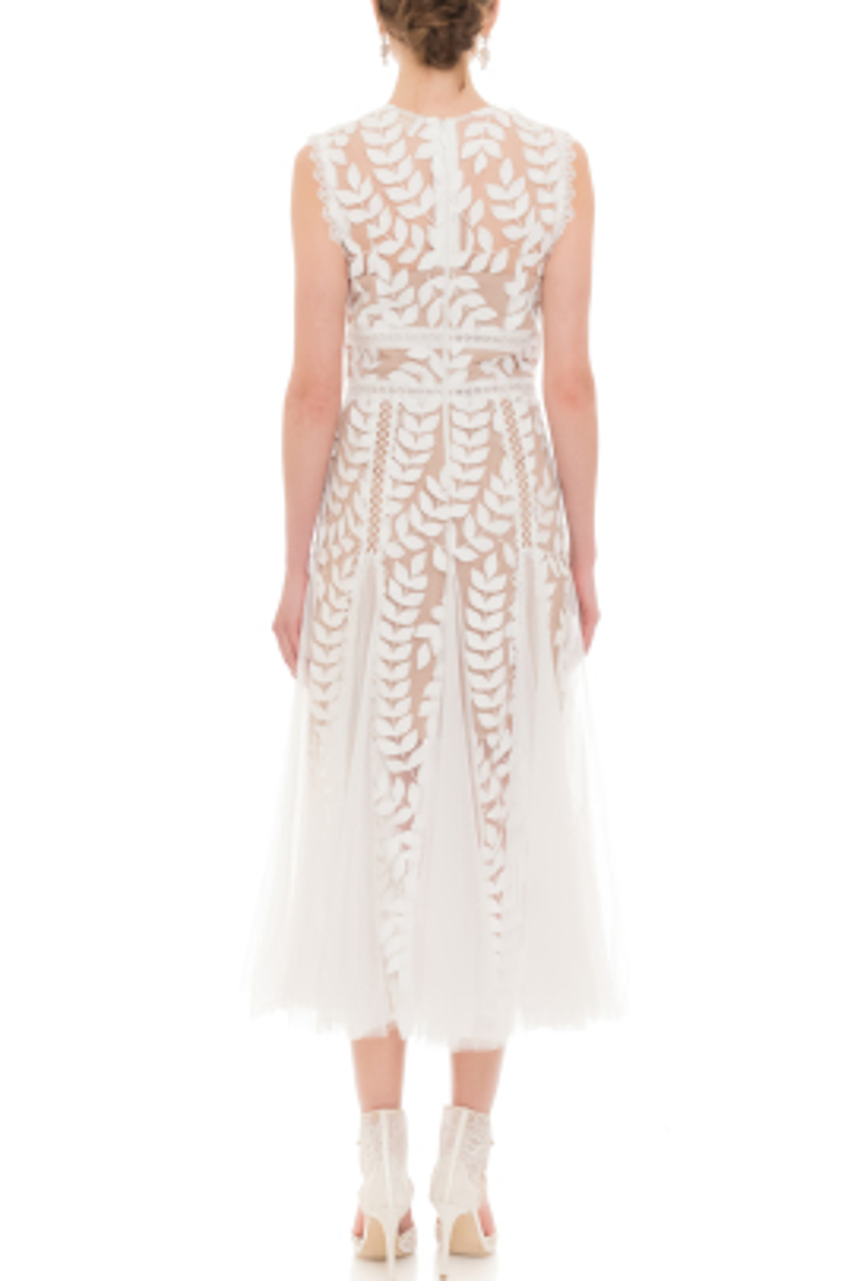 Saba Beyaz Elbise