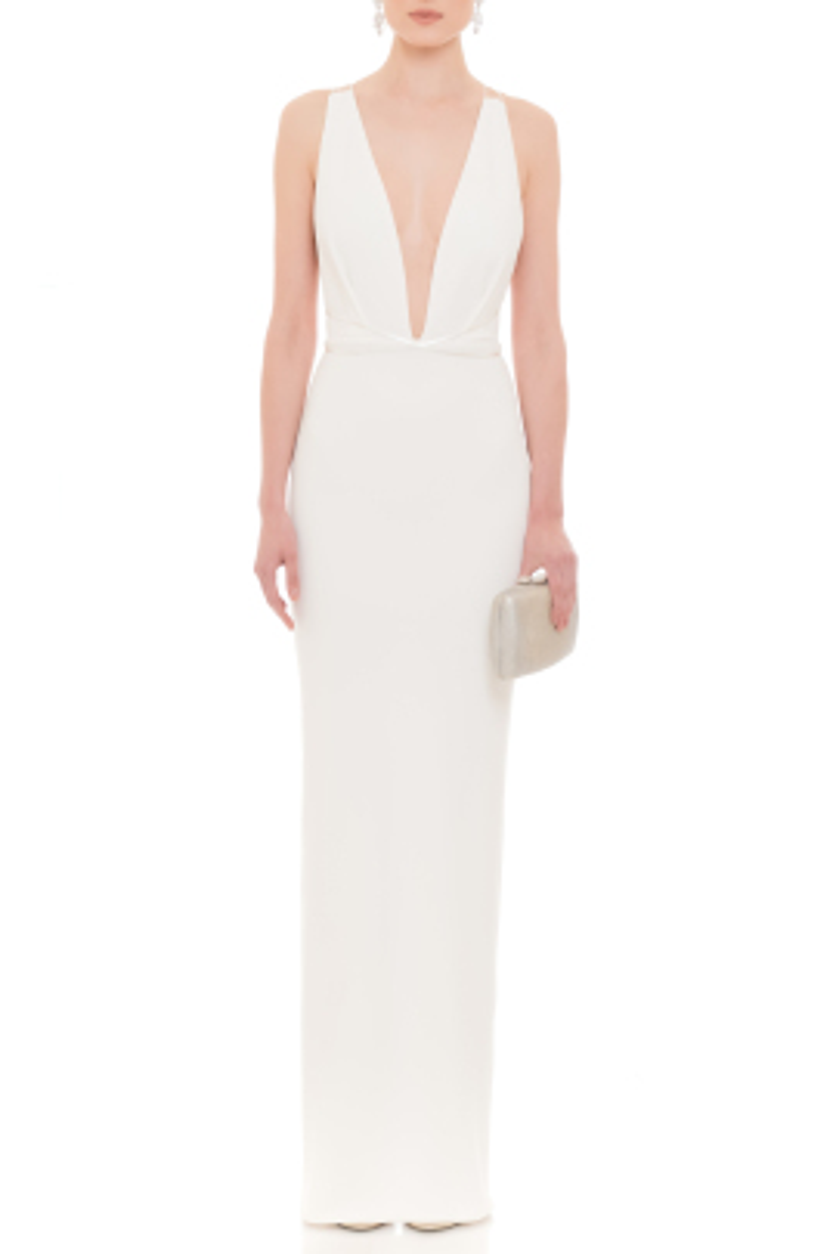 Mila Beyaz gece elbisesi