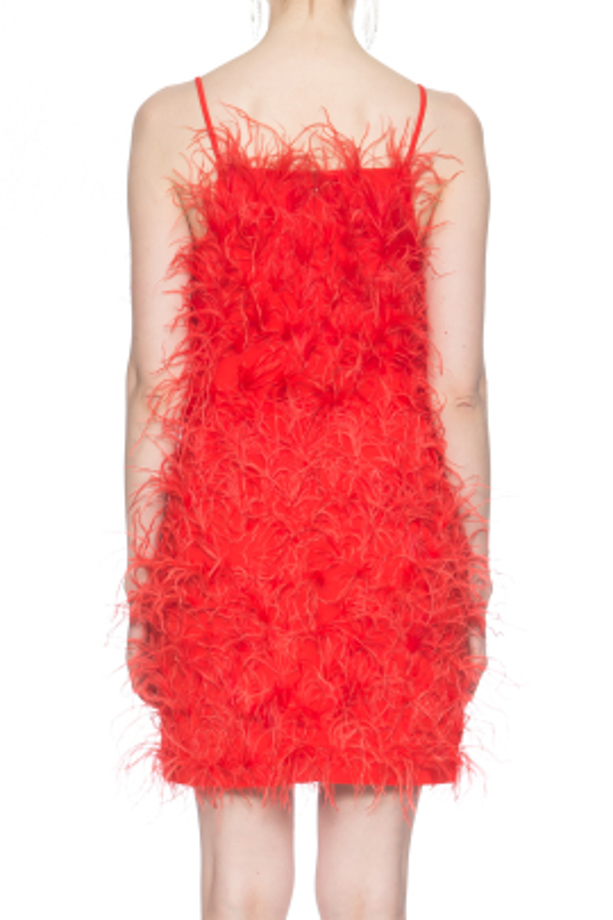 Kırmızı Otriş Elbise