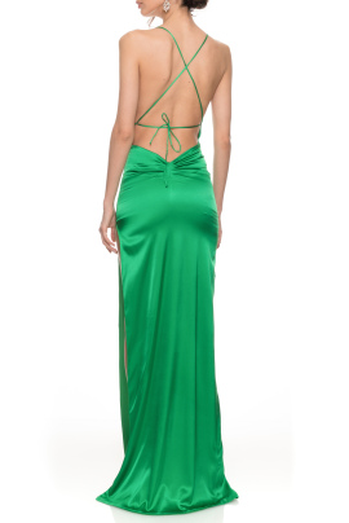 Merlot Yeşil Elbise