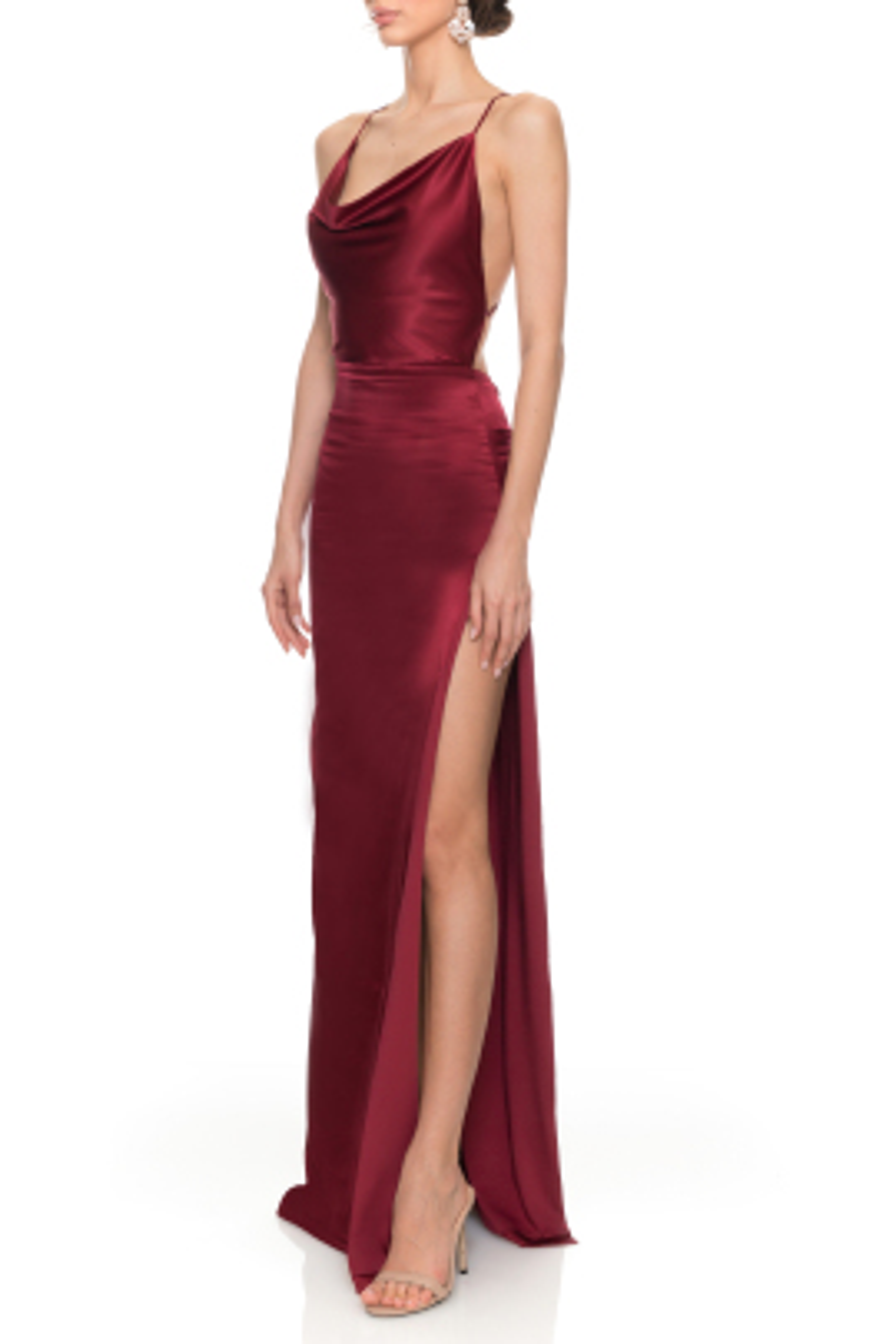 Merlot Bordo Elbise