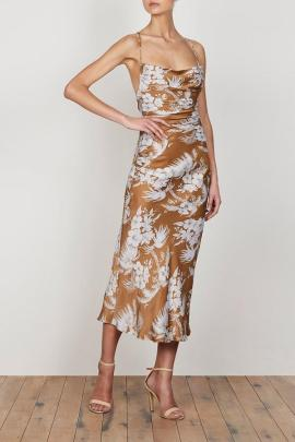 Ruched Midi Elbise