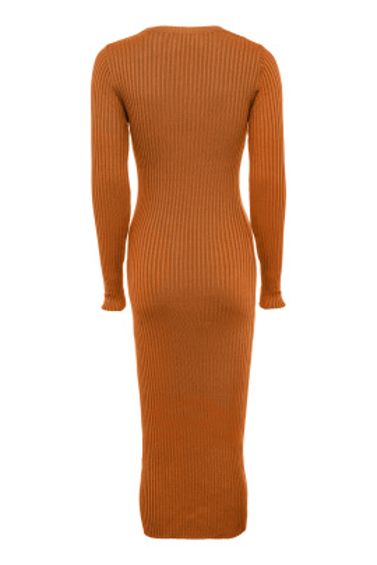 Kiremit Uzun Kollu Elbise