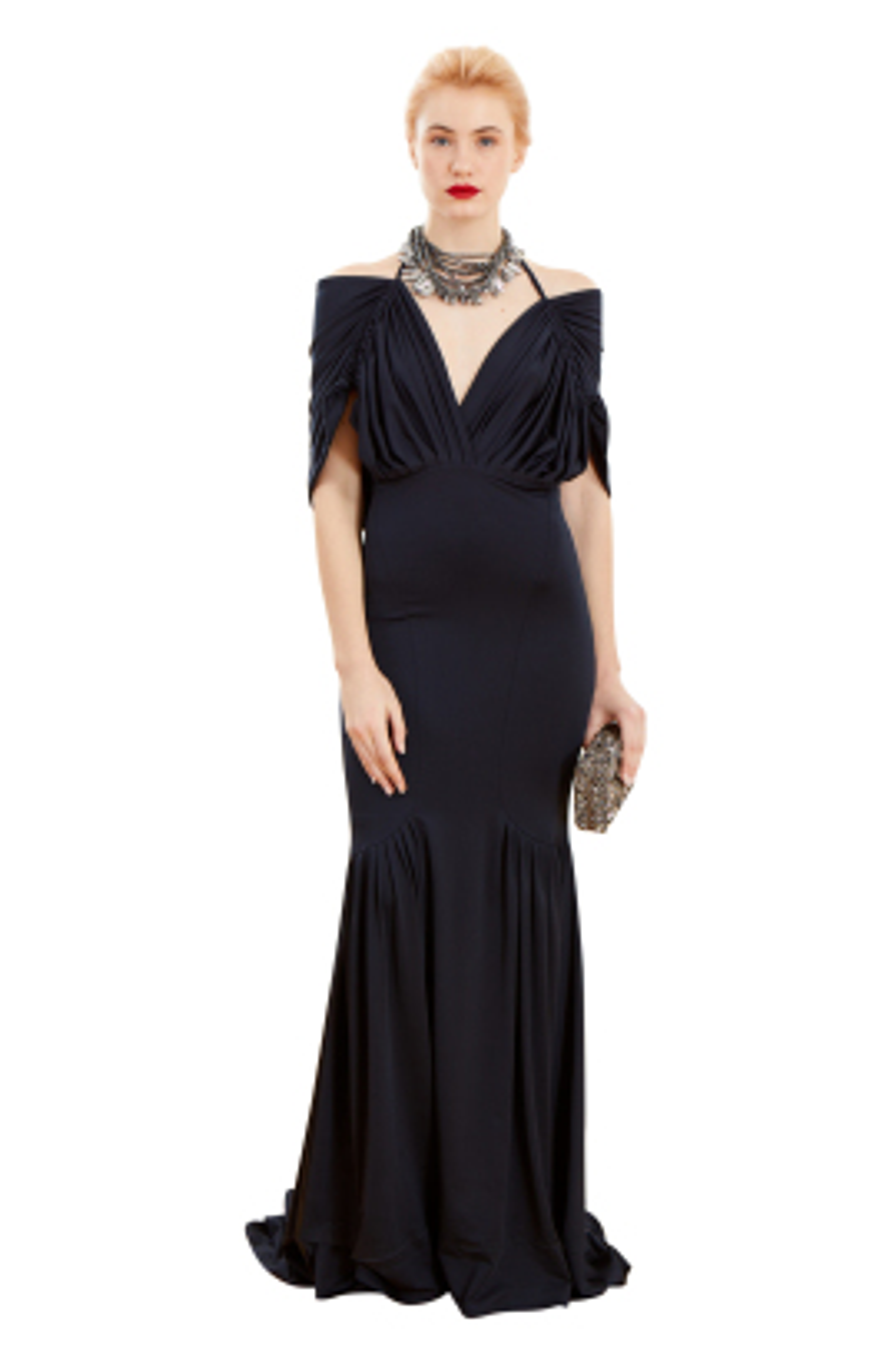 Lady Lacivert Gece Elbisesi